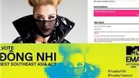 Đông Nhi chiến thắng giải MTV EMA Nghệ sỹ Đông Nam Á xuất sắc nhất