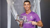 Ronaldo đứng đầu danh sách cầu thủ hay nhất năm 2016