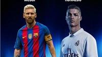 Messi và Ronaldo cạnh tranh giải Cầu thủ xuất sắc nhất năm của Globe Soccer Awards 2016