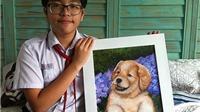 26 học sinh bày 146 tranh 'nhớ ơn thầy cô'