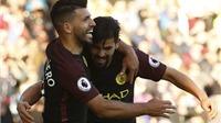 Burnley 1-2 Man City: Aguero lập cú đúp, Man City tạm soán ngôi đầu bảng của Chelsea