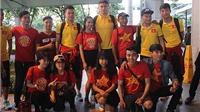 Đội tuyển Việt Nam rạng rỡ về nước chuẩn bị gặp Indonesia