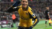 West Ham 1–5 Arsenal: Sanchez lập hat-trick, Arsenal khởi đầu tháng 12 tưng bừng