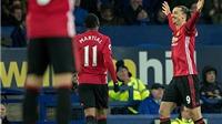 ĐIỂM NHẤN Everton 1–1 Man United: Fellaini gợi kỷ niệm buồn cho Mourinho. Rojo đã 'lấy hết' may mắn của Man United