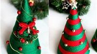 Làm cây thông Giáng sinh siêu dễ thương