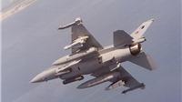 Tiêm kích F-16 của Thổ Nhĩ Kỳ lao xuống đất, phi công kịp bung dù