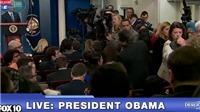 VIDEO: Nhà báo ngất xỉu trong họp báo cuối năm của ông Obama