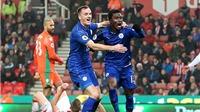 Vardy bị đuổi sớm, thủng lưới 2 lần, Leicester vẫn hòa 'điên rồ' với Stoke