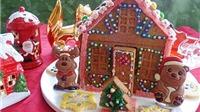 Bánh gừng hình ngôi nhà xinh xắn cho Giáng sinh