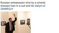 Vụ bắn Đại sứ Nga: Daily Mail bị chỉ trích vì mô tả sát thủ diện com lê 'đúng mốt'