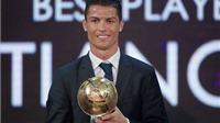 Ronaldo bỏ quên Barca trong bài phát biểu khi nhận giải thưởng danh giá