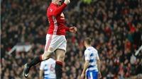 Mở tỷ số cho Man United, Rooney cân bằng kỷ lục của Sir Bobby Charlton