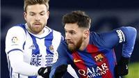 Messi bị đối thủ tố phải nhận thẻ đỏ trong trận đấu với Sociedad