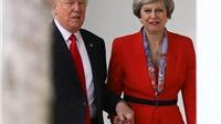 Bức ảnh lịch sử: Ông Trump nắm tay thân thiết với nữ Thủ tướng Anh