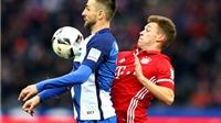 Hertha Berlin 1-1 Bayern Munich: Lewandowski giúp Bayern 'thoát chết' vào phút cuối