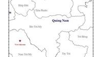 Thông tin chính thức về trận động đất ở huyện Nam Trà My, Quảng Nam