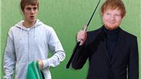 Ed Sheeran đập vào mặt Justin Bieber bằng một cây gậy golf