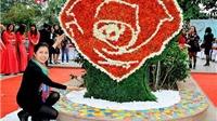 Chiêm ngưỡng sắp đặt 'Trái tim hoa hồng' từ 6.000 bông hồng