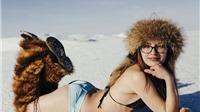 Những bộ bikini hút mắt dưới cái lạnh -20 độ C