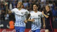 Malaga 2-0 Barcelona: Neymar bị đuổi, Barca thua thảm, lỡ cơ hội đuổi kịp Real