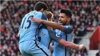 Southampton 0-3 Man City: Aguero lập công, Man City đẩy Liverpool xuống thứ 4