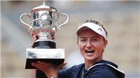 Barbora Krejcikova, tân vô địch Roland Garros: Đóa hoa nở muộn xứ pha lê