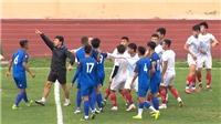 Cầu thủ Nam Định, Phú Thọ xô xát trong trận đấu tập