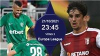 Soi kèo nhà cái Ludogoret vs Sporting Braga. Nhận định, dự đoán bóng đá Cúp C2 (23h45, 21/10)