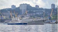 Biên đội tàu Hải quân Việt Nam tham dự lễ duyệt binh kỷ niệm Ngày Hải quân Nga