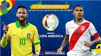 Kèo nhà cái Brazil vs Peru. Tỷ lệ kèo bóng đá Copa America 2021. Trực tiếp BĐTV