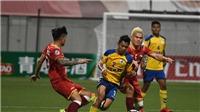 SLNA đá bại Tampines Rovers tại AFC Cup 2018, Nguyên Mạnh chấn thương kinh hoàng