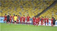 Thời tiết không ủng hộ đội tuyển Việt Nam ở buổi tập quyết định