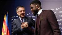 M.U hết hy vọng: Umtiti ở lại Barca thêm 5 năm, phí giải phóng 500 triệu euro