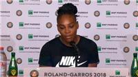 Serena William bất ngờ rút lui khỏi Roland Garros trước trận đấu với Sharapova