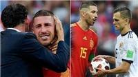 Ramos phát khóc khi thất bại với trò 'tâm lý chiến' Cheryshev trong ngày Tây Ban Nha bị loại