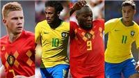 Link xem trực tiếp Brazil vs Bỉ (01h, 7/7), tứ kết World Cup 2018