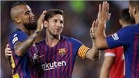 Barcelona 2-2 Girona: Messi và Pique giúp Barca chật vật giữ lại 1 điểm vì thiếu người
