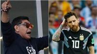Maradona: 'Đi toilet 20 lần trước mỗi trận đấu thì Messi sao làm thủ lĩnh được?'