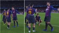 Suarez mất bình tĩnh, chửi thẳng mặt Pique sau trận thua Betis