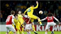 Video BATE Borisov 1-0 Arsenal: 'Pháo thủ' phơi áo trên sân khách
