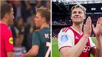 Frenkie De Jong xin trọng tài đá thêm giờ trong trận đấu cuối cùng với Ajax