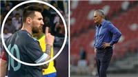Thua Argentina, HLV Brazil nổi giận vì bị Messi bắt 'câm miệng'
