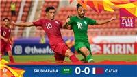 U23 Saudi Arabia 0-0 U23 Qatar: Chia điểm tẻ nhạt, Qatar lâm nguy