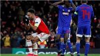 Aubameyang suýt bật khóc sau pha bỏ lỡ ở phút 123, khiến Arsenal bị loại
