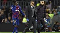 Barca được bổ sung tiền đạo thay Dembele, nhưng chỉ đá ở Liga