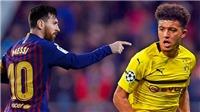 Jadon Sancho có thống kê đáng kinh ngạc khi so sánh với Ronaldo và Messi