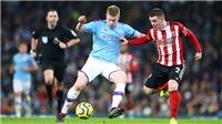 TRỰC TIẾP Man City vs Sheffield. K+, K+PM trực tiếp bóng đá Anh hôm nay