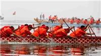 Hình ảnh Lễ hội bơi chải thuyền rồng trên Hồ Tây, Hà Nội