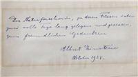 Bức thư của thiên tài A. Einstein được bán hơn 100.000 USD