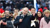 Tổng thống Nga Vladimir Putin chiến thắng áp đảo, tái đắc cử nhiệm kỳ thứ 4